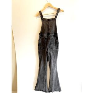 Lucky Brand High Rise Flare Overall Black S